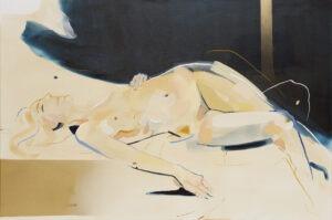 Zanurz tylko dłoń (2020) - Natalia Fundowicz - jasny obraz kobiecy akt