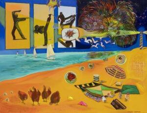 I MAKE VISIONS (2021) - Michalina Czurakowska - kolorowy obraz, morze, plaża, wakacje