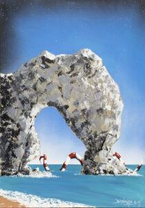 Dorset - Bartłomiej Baranowski - widok morski z plażą i skałą