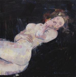 Spalanie (2020) - Maciej Kempiński - kobiecy akt, ciało