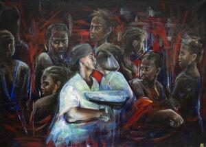Antypody jaźni (2013) - Angelika Korzeniowska - wielkoformatowy obraz, ludzie