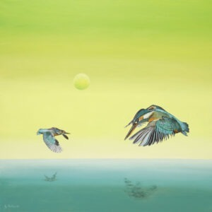 Wildlife-W9 (2021) - Adam Piotr Rutkowski - ptaki nad wodą na zielonym tle