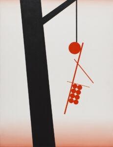 Slavery & Abstract art - Andrzej Tobis - biało-czerwono-czarna abstrakcja geometryczna