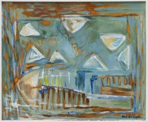 Chmury (2013) - Kamila Guzal-Pośrednik - zielono-błękitny pejzaż abstrakcja