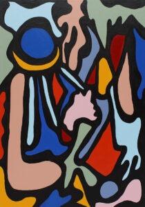 1Q93 (2021) - Paulina Ledzion - kolorowa abstrakcja na czarnym tle