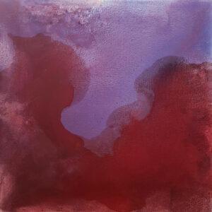 Przemyślenia (2020) - Weronika Braun - fioletowo-czerwona abstrakcja