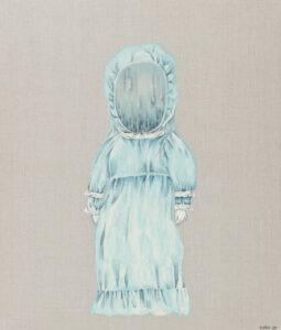 Lalka 7 - Magdalena Cybulska - biała postać w czepku i białej sukience