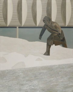 Tegoroczna zima - Andrzej Tobis - człowiek w zaspach śniegu