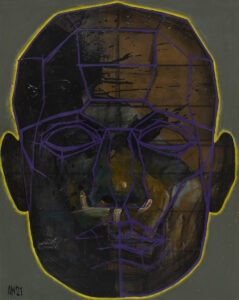 aleksandra modzelewska maska czy twarz s4 26 2021 - ciemny portret w fioletach i zieleniach