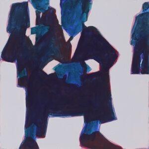 bez tytułu - Iwona Kobryń - siedzący mężczyźni w garniturach