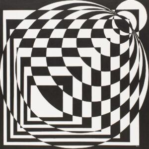 Beata Szustkiewicz - czarno-biała abstrakcja geometryczna