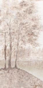 delikatność chwili - Mariola świgulska - pejzaż, brzozy nad jeziorem