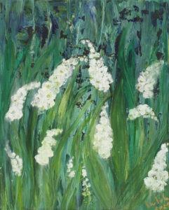 kwiaty wiosenne - Izabela Drzewiecka - łąka, kwiaty dzwonki, konwalie, naparstnice
