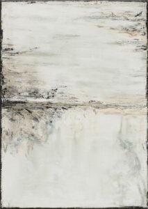 Brzegi 4 - Anna magier - rozmyty pejzaż, jasne kolory, biel, jasne odcienie szarości