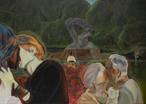 the kiss - Michalina czurakowska - 3 całujące się pary w różnym wieku, park, pomnik Chopina