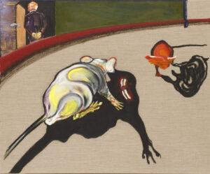 rat fight Don Kichot - Marcin Lipiec - walczące szczury, na motywach twórczości Francisa Bacona