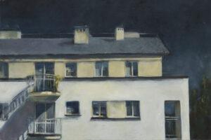 Za oknem, 2018 - Aneta Fausek-Kaczanowska - fragment architektury mieszkaniowej