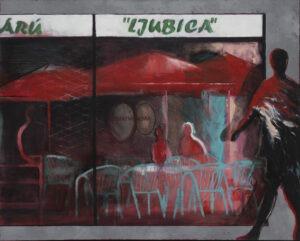 Agata Sobczyk - widok kawiarni w mieście
