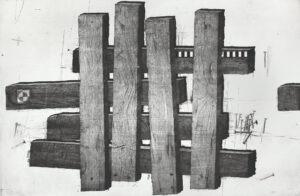 boards - Kamil kocurek - abstrakcja, ułożone krzyżowo deski/belki