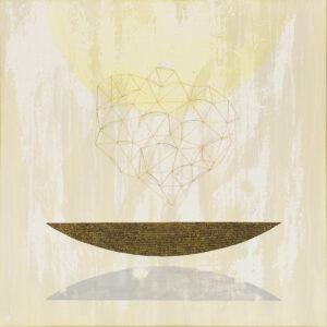 Naczynie XIII - naczynie, które porzuciło swój cień - Marlena Wąsowska - abstrakcja, dominujący jasny żółty kolor