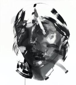 i015 - Izabela Lewkowicz - portret kobiety czerń, szarość, biel