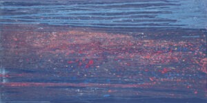 świat pozytywnie szemrzący życiem - Magdalena mędzkiewicz - abstrakcja, błękitno różowa