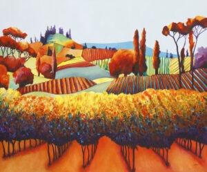 wspomnienie lata - weronika lipka - jesienny pejzaż pól i sadu
