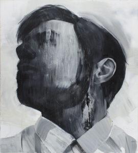 m010 - Izabela Lewkowicz - portret mężczyzny, czarno biały