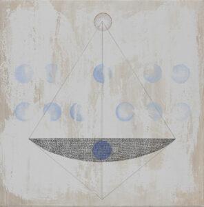 naczynie - cztery strony świata i dwunastu... - Marlena Wąsowska - geometryczna abstrakcja, delikatne, jasne kolory