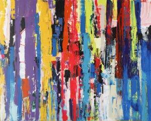 Neon map - Gossia Zielaskowska - abstrakcja, żywe kolory