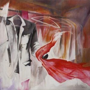 tango - jolanta haluch - szafa, garnitur obejmujący czerwoną suknię