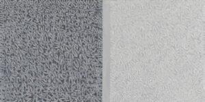 Michał Paryżski - Bez tytułu - szary poziomy obraz abstrakcyjny