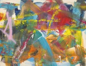 bez tytułu - Wioleta Frączek - abstrakcja, żywe ciepłe kolory