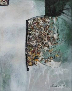 equuleus - Agnieszka boroń - abstrakcja, wyraźna faktura obrazu