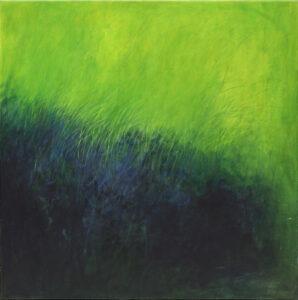 pejzaż - Iza Jaśniewska - zielono czarna abstrakcja