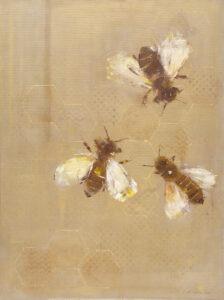 miodowy miesiąc - Malwiną cieślik - 3 pszczoły na plastrze miodu