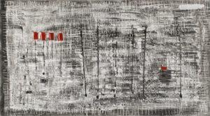 bez tytułu - Witold podgórski - abstrakcja, czarno - szara
