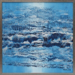 waterfall - marta dunal - błękitna abstrakcja