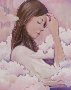 oczekując jutra - paulina Lewandowska - portret kobiety pośród chmur