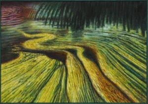 Krzysztof Krzywiński - zielony pejzaż z polem