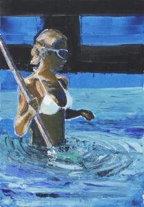 pływacza - Agnieszka słońska-więcek - kobieta stojąca po pas w basenie