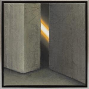 Ewa Zawadzka - Na krawędzi światła - monumentalny obraz z architekturą i światłem