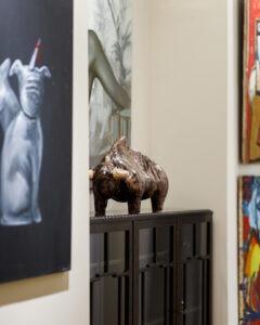 Byk - Aneta Śliwa - rzeźba obraz malarstwo Magdalena Cybulska Andrzej Folfas biuro dom