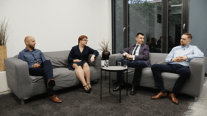 Debata Sales Angels, Agnieszka Gniotek, Jacek Jakubiuk, Marcin Grela, Grzegorz Michalski