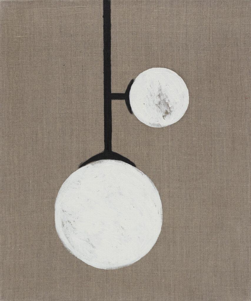 Bettina Bereś - lampa - obraz przedstawiajacy białą lampę