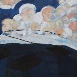 Natalia Kozarzewska - Kąpiel w morzu. Meksyk, 2021 - pejzaż z chmurami i morzem