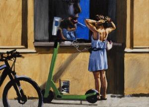 Dziewczyna w lustrze - Marcin Kędzierski - scena rodzajowa