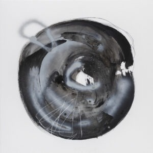 Pola Piestrzeniewicz - Gest XVI, 2021 - czarno-biała abstrakcja z kołem