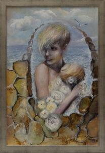 Anna Sandecka-Ląkocy - Memories, 2020 - portret kobiety na tle morza