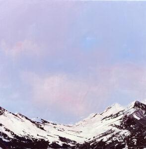 Yuliya Stratovich - Bez tytułu, 2021 - pastelowy pejzaż z górami